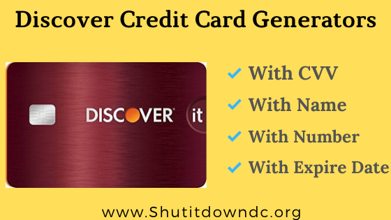 Discover Credit Card number generator