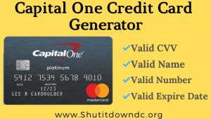 capital one credit card generator