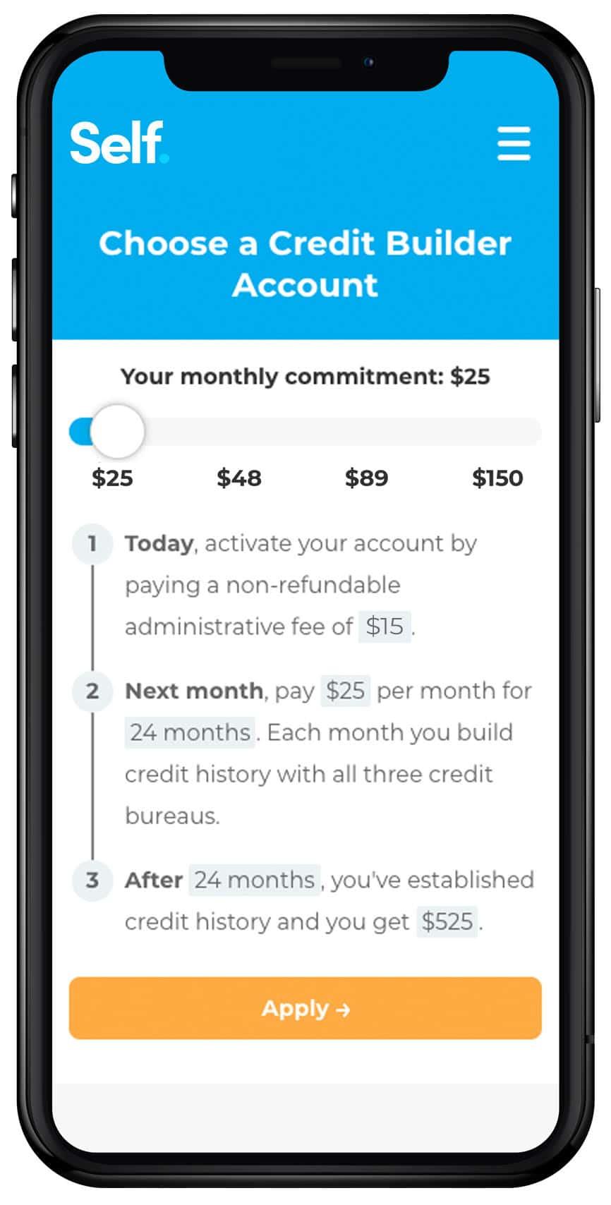Self-Credit Builder Account