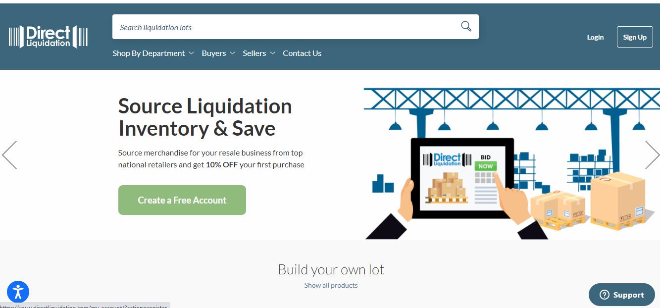DirectLiquidation Homepage