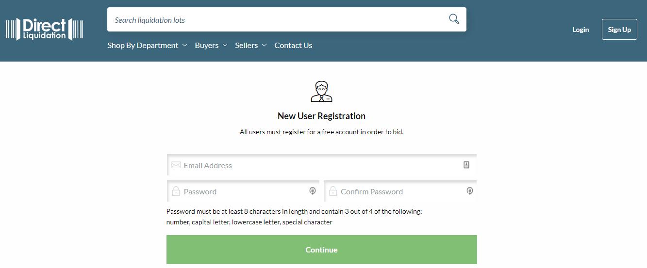 Signup Direct Liquidation
